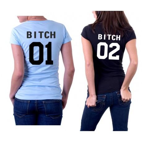 Tričko pro BFF, Bitch -Společně Od - Dámské Tričko s vtipným potiskem