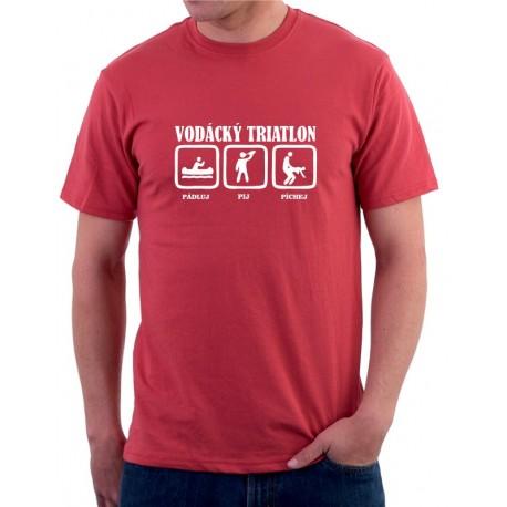 Vodácký triatlon, Pádluj, Pij, Píchej  - Pánské Tričko s vtipným potiskem