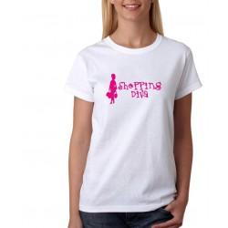 Shopping diva - Dámské Tričko s vtipným potiskem