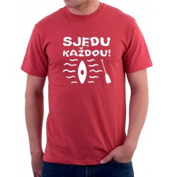 Tričko pánské vodácké tričko-Sjedu každou!