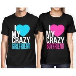 I love my crazy Boyfriend - Dámské párové tričko pro zamilované.