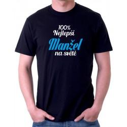 Pánské tričko 100% nejlepší Manžel na světě