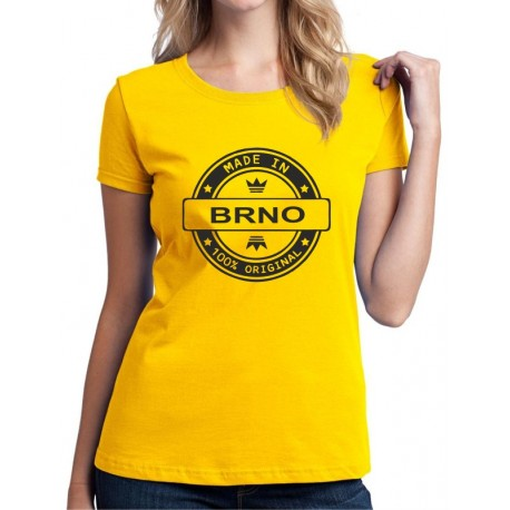 Made in BRNO - Dámské Tričko s vtipným potiskem