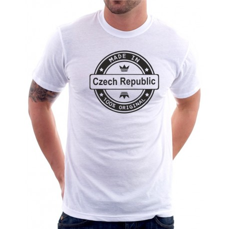 Made in CZECH REPUBLIC - Pánské Tričko s vtipným potiskem