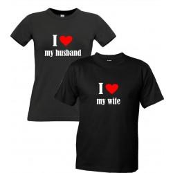 I LOVE MY HUSBAND - Dámské párové tričko pro zamilované manželky