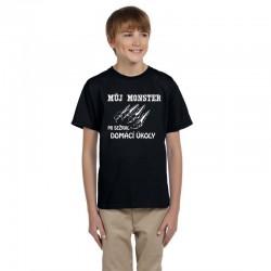 Dětské tričko Můj MONSTER mi sežral domací úkoly.