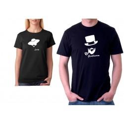 Gentleman - Pánské Tričko pro zamilované páry.