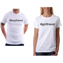 Girlfriend, hastagh - dámské tričko pro zamilované páry