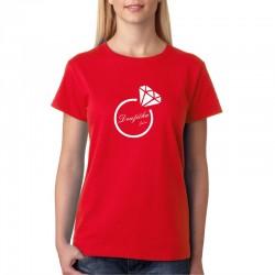 Tričko dámské pro družičky Družička se jménem