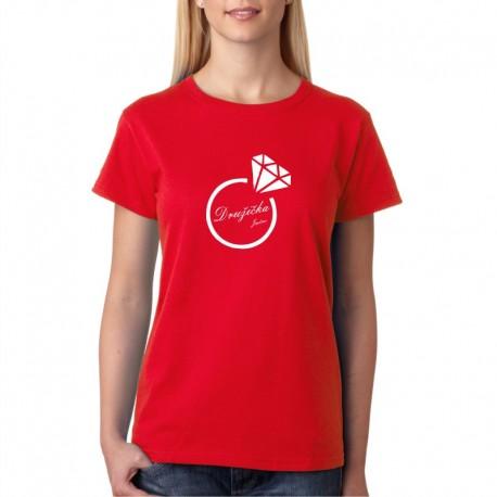 Družička se jménem - Dámské svatební tričko pro družičky