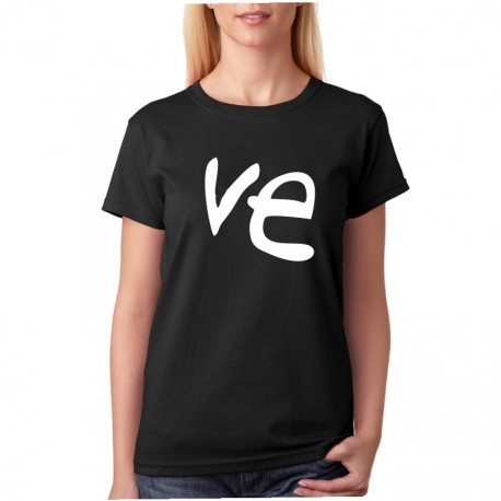 Ve - Dámské tričko pro zamilované páry s celým nápisem LOVE