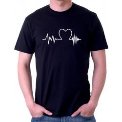 Tričko pánské - Heart beat (Tlukot srdce)