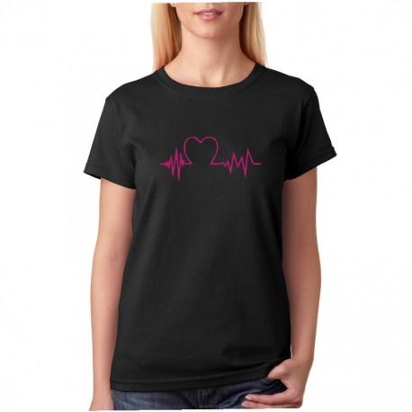 Heart beat - Tlukot srdce pro zamilované - Dámské tričko pro páry