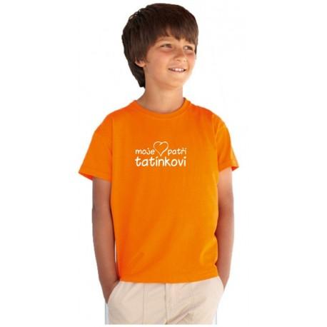 Moje srdce patří tatínkovi - Dětské Tričko s potiskem