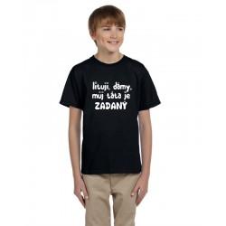 Humorné tričko s potiskem pro vaše dítě Lituji, dámy, můj táta je zadaný