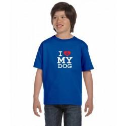 I LOVE MY DOG - Dětské tričko s textem Miluji svého pejska