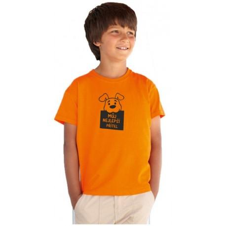 Můj nejlepší přítel - tričko s motivem pejska jako nejlepšího přítele