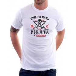 Rum po ránu ze mně dělá Piráta né Alkoholika - Pánské Tričko s vtipným potiskem