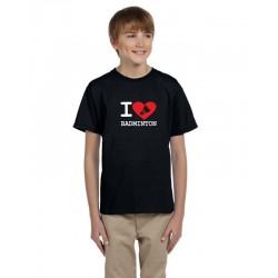 I Love Badminton - Dětské tričko s motivem Badmintonu