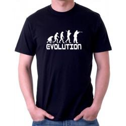 Evolution Lovce - Pánské tričko s motivem evoluce lovce