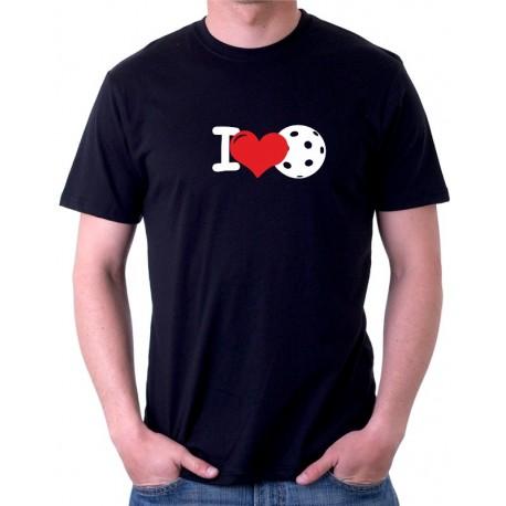 I Love Floorball - Pánské tričko s tématikou Floorballu