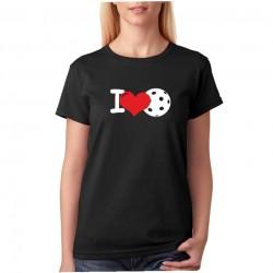 I Love Floorball - Dámské tričko s tématikou Floorballu