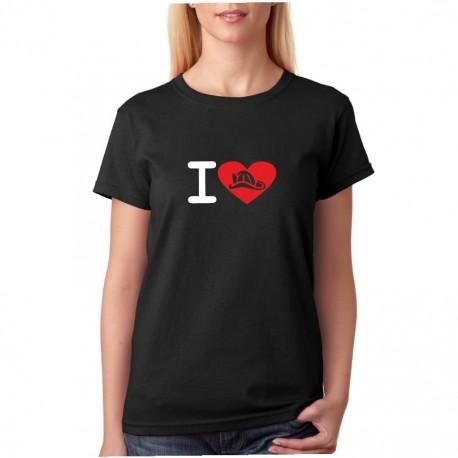 I Love Hasiče - Dámské tričko s tématikou o hasičích
