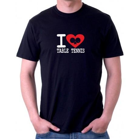 I Love Table Tennis - Pánské tričko s v tématikou stolního tenisu