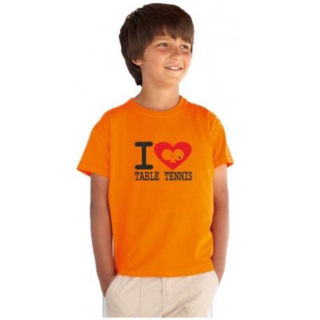 I Love Table Tennis - Dětské tričko s tematikou o stolním tenisu