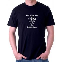 Pánské triko Kdo neumí 26 neumí šipky