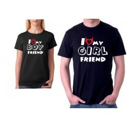 I love my boyfriend - Pánské Tričko s vtipným potiskem