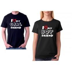 I love my BOYFRIEND - Dámské párové tričko pro zamilované.