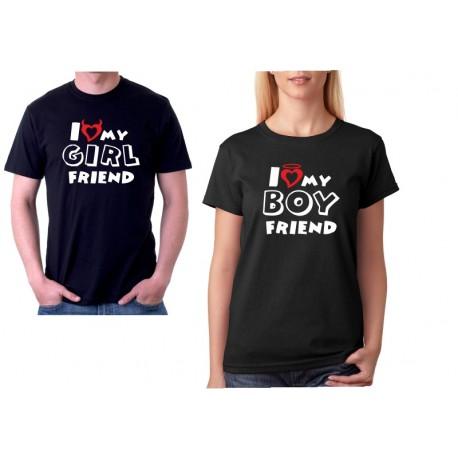 I love my BOYFRIEND  - Dámské Tričko s vtipným potiskem