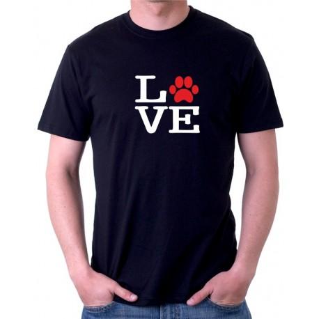 Miluji pejsky - Pánské tričko s  motivem o pejscích