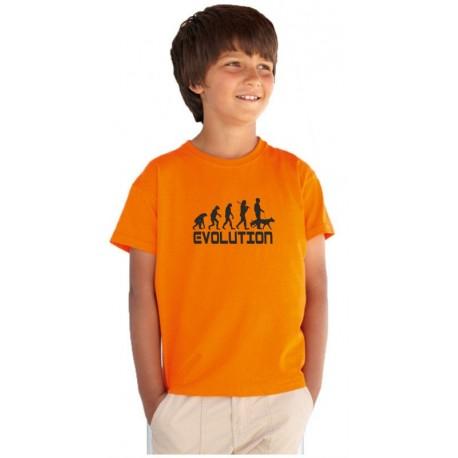 Evolution Pejskaře - Dětské tričko s motivem Evolution o pejscích