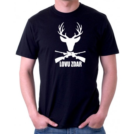 Lovec - Lovu Zdar - Pánské tričko s vtipným potiskem