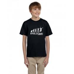 Evoluce Badminton - Dětské tričko s motivem  Evoluce badmintonu