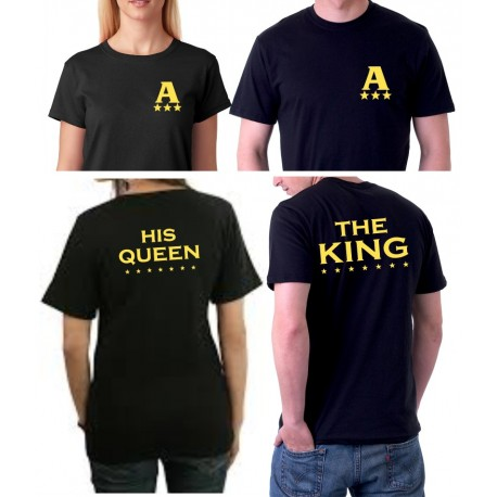 The King and His Queen - Párové tričko pro zamilované.