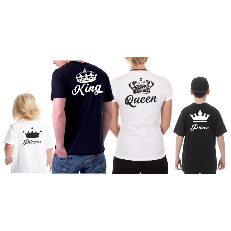 32a2bb73080 KING a QUEEN s potiskem na zádech - Párové trička pro zamilované.