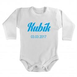 Dětské body s vlastním potiskem Jména a datumu narození. Kojenecké bodýčko s datumem a jménem vašeho miminka.