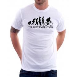 Evolution Cyklista - Pánské Tričko s vtipným potiskem