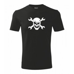 Lebka Automechanik - Pánské tričko pro Automechaniky