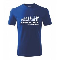 Evolution Elektrikář - Pánské tričko s motivem evolution elektrikář