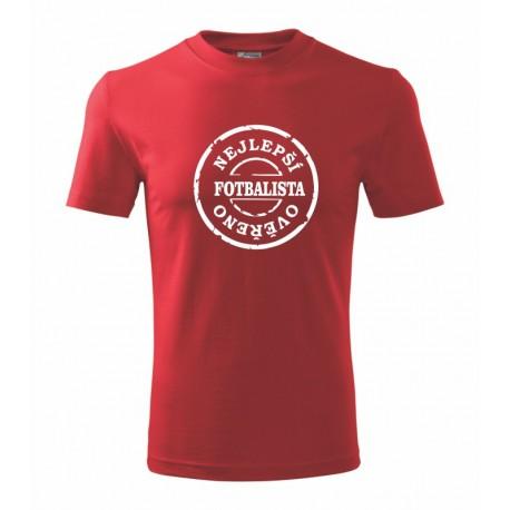 Nejlepsi fotbalista, overeno- Pánské tričko s vtipným motivem