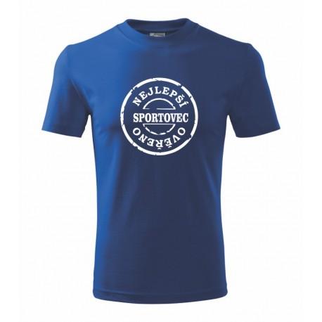 Nejpepsi sportovec, overeno- Pánské tričko s vtipným motivem