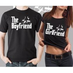 The Boyfriend, The Girlfriend - Párové tričko pro zamilované páry
