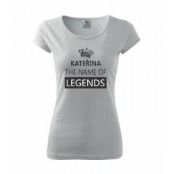 SABINA The name of Legends - Dámské tričko jako dárek ke svátku pro jméno Sabina