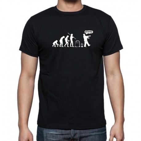 Evolution Zombie - Pánské Tričko s vtipným potiskem