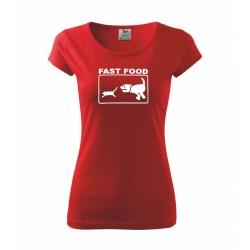 Fast Food - Dámské tričko s vtipným potiskem