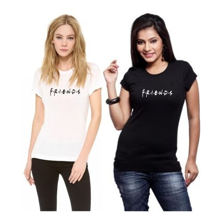F - R - I - E -N - D - S - Dámské tričko z potiskem pro kamarádky